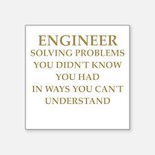 "ENGINEER6 Square Sticker 3"" x 3"""