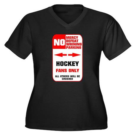 NO PARKING Hockey Sign Women's Plus Size V-Neck Da