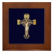 Benedictine Crucifix Framed Tile
