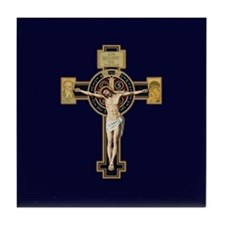 Benedictine Crucifix Tile Coaster