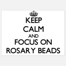 Keep Calm and focus on Rosary Beads Invitations