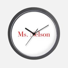 Ms Nelson-bod red Wall Clock