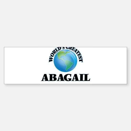 World's Greatest Abagail Bumper Car Car Sticker