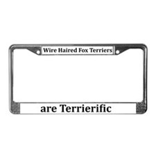 Wire Haired Fox Terriers License Plate Frame