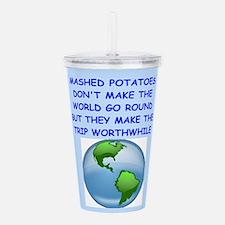 mashed potatoes Acrylic Double-wall Tumbler