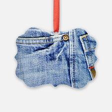 Denim Blue Jeans Ornament