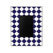 Diamond Check Navy Picture Frame