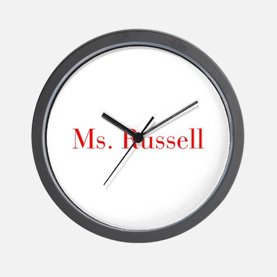 Ms Russell-bod red Wall Clock