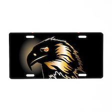 Black, golden eagle Aluminum License Plate