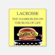 """lacrosse Square Sticker 3"""" x 3"""""""