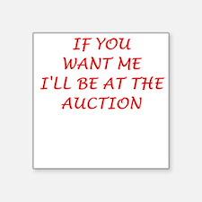 "auction Square Sticker 3"" x 3"""