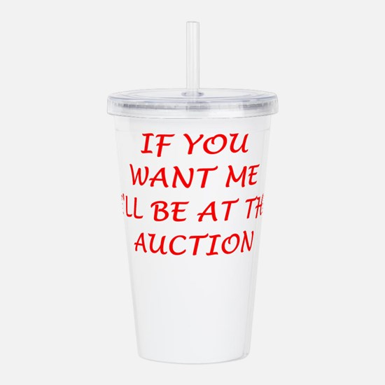 auction Acrylic Double-wall Tumbler