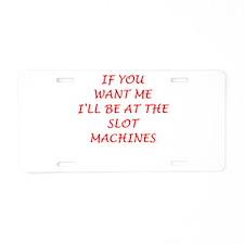 slots Aluminum License Plate