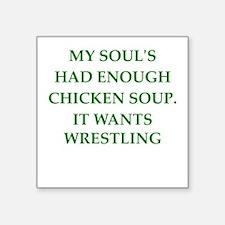 "wrestling Square Sticker 3"" x 3"""