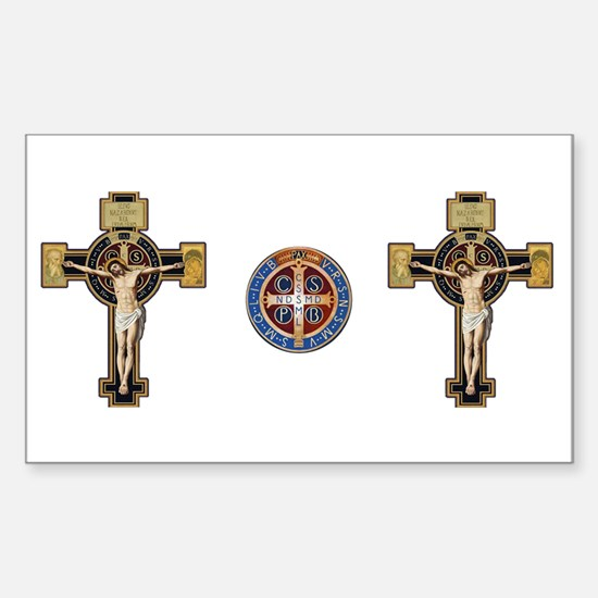 Benedictine Crucifix and Medal Decal