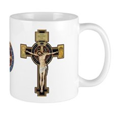 Benedictine Crucifix and Medal Mugs