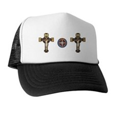 Benedictine Crucifix and Medal Trucker Hat