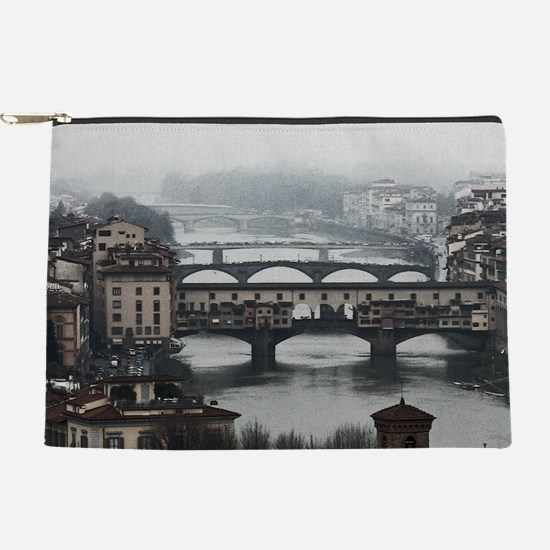 Bridges of Florence Italy Makeup Pouch