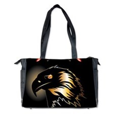 Black, golden eagle Diaper Bag