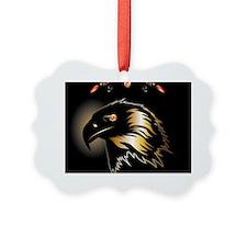 Black, golden eagle Ornament
