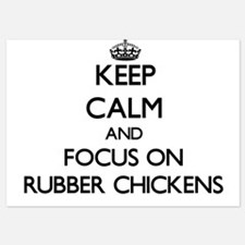 Keep Calm and focus on Rubber Chickens Invitations