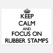 Keep Calm and focus on Rubber Stamps Invitations