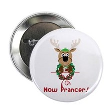 """Now Prancer 2.25"""" Button (100 pack)"""