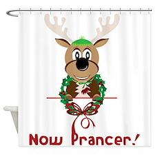 Now Prancer Shower Curtain