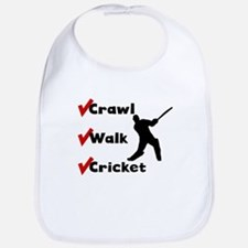 Crawl Walk Cricket Bib