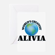 World's Greatest Alivia Greeting Cards