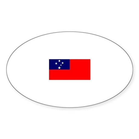 samoa flag gifts Oval Sticker