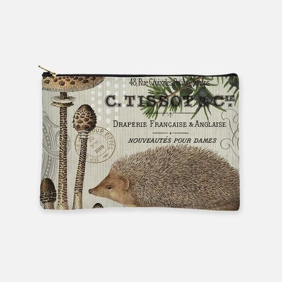modern vintage woodland hedgehog Makeup Pouch