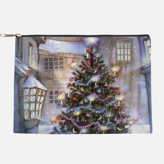 Vintage Christmas Tree Makeup Pouch
