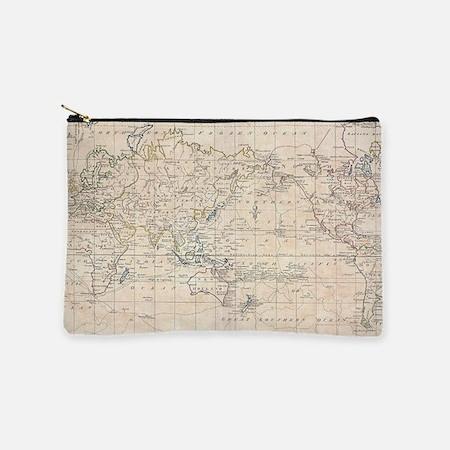 Vintage Map of The World (1799) Makeup Bag