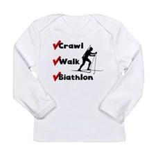 Crawl Walk Biathlon Long Sleeve T-Shirt