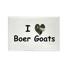 I Love Boer Goats Rectangle Magnet