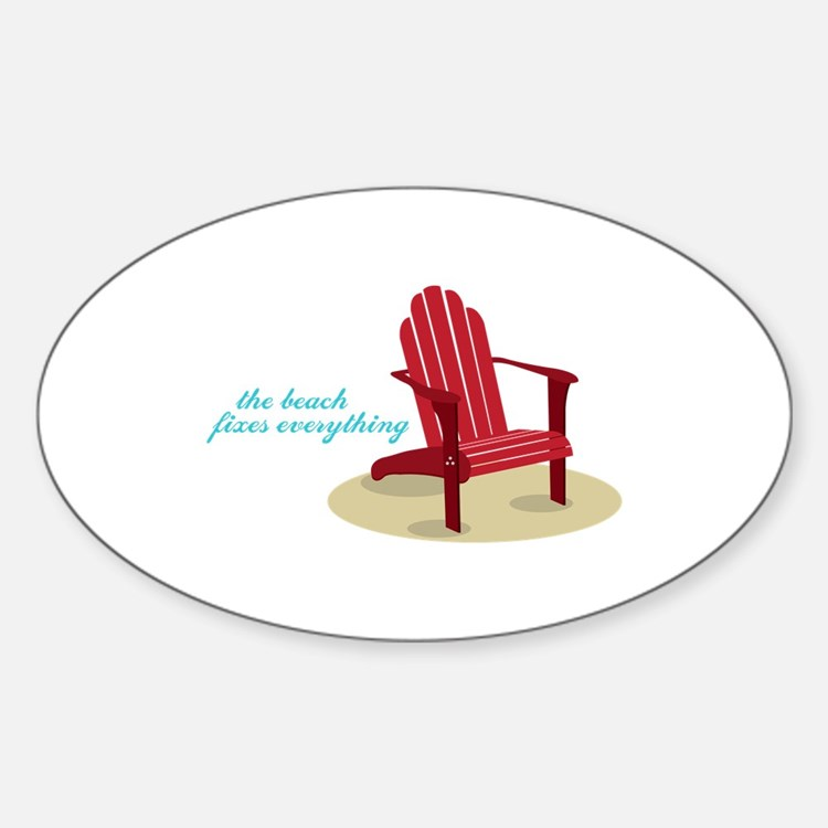 Beach Fixes Everything Decal
