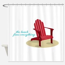 Beach Fixes Everything Shower Curtain