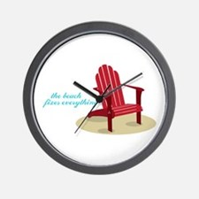 Beach Fixes Everything Wall Clock