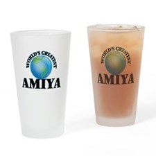 World's Greatest Amiya Drinking Glass