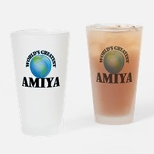 World's Greatest Amiya Drinking Glass