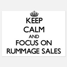 Keep Calm and focus on Rummage Sales Invitations