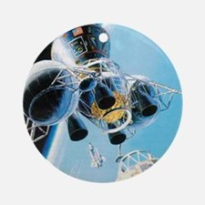 lunar landing Ornament (Round)