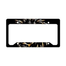 Golden lion License Plate Holder