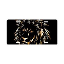 Golden lion Aluminum License Plate