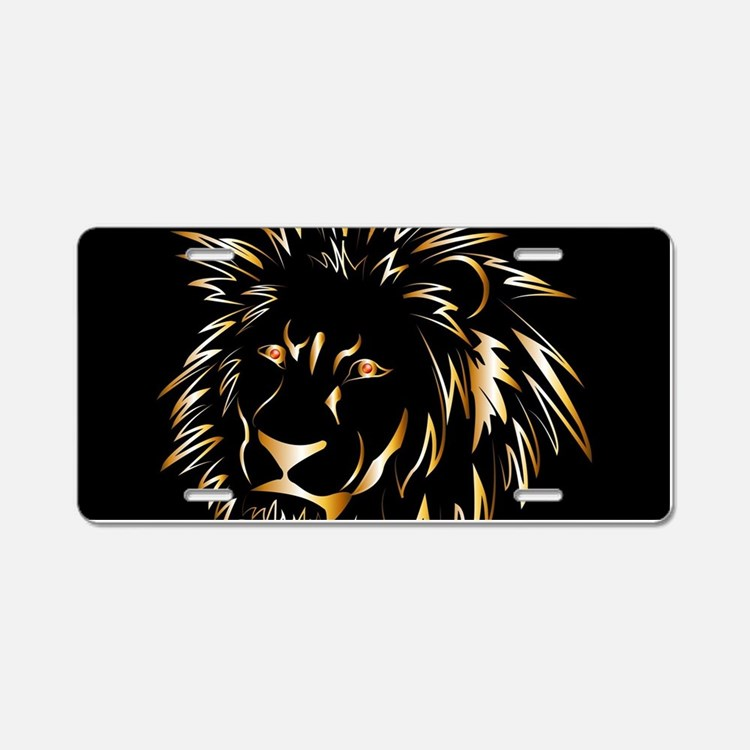 Golden lion Aluminum License Plate