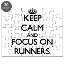 Keep Calm and focus on Runners Puzzle