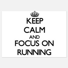 Keep Calm and focus on Running Invitations