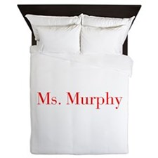Ms Murphy-bod red Queen Duvet