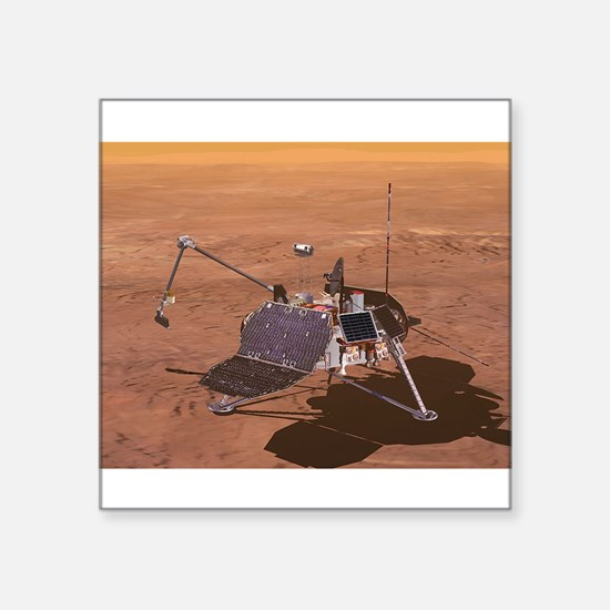 """mars polar lander Square Sticker 3"""" x 3"""""""